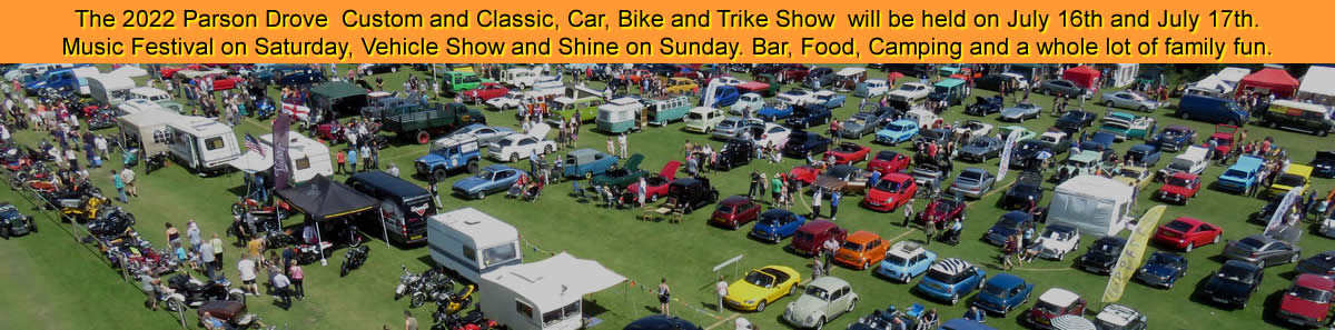 Parson Drove Custom and Classic - Car, Bike and Trike Show